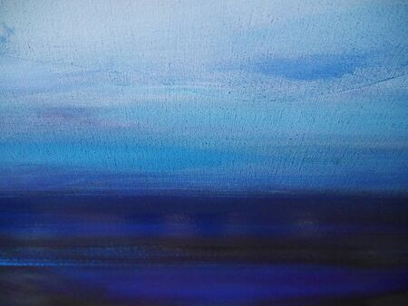 Texture of the surface of the Blue canvas. Background.