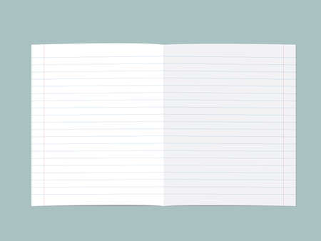 Lined paper blank sheet. Vector illustration isolated on white
