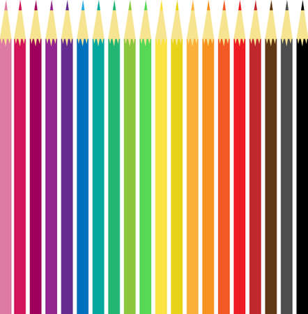Set of colorfull pencils, isolated on white. Illusztráció