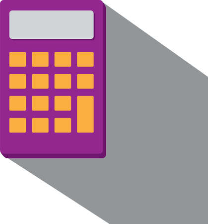 Violet calculator illustration isolated on white. Vector.