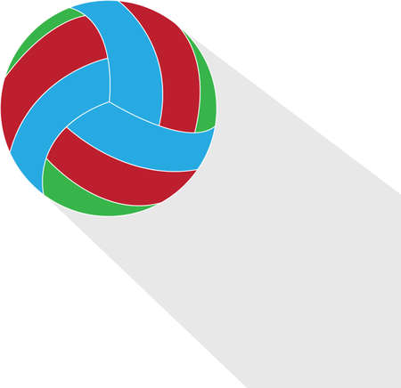 Flat illustration of the volleyball ball isolated on white background.