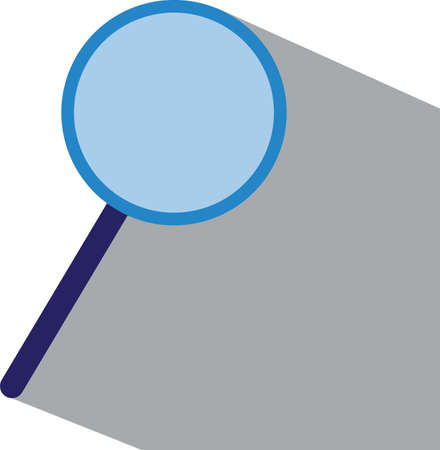 Magnifying Glass flat icon with grey shadow.