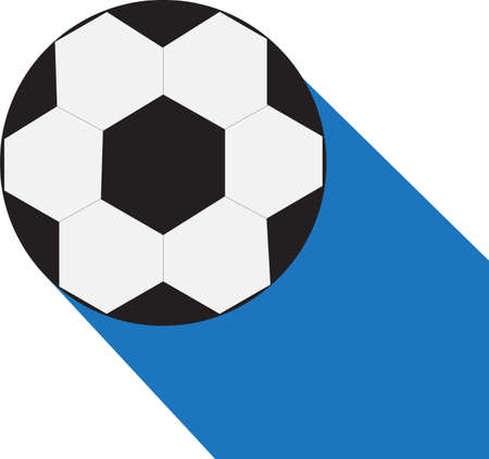 Football ball soccer icon, flat style, vector.