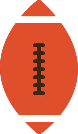 Flat illustration of American football ball icon