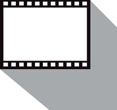 Vector blank film strip isolated on white
