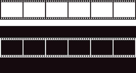 Black and white vector blank film strip. Vector Illusztráció
