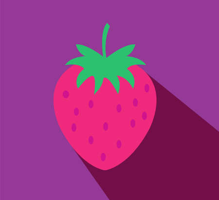 Strawberry illustration. Flat design style modern vector illustration