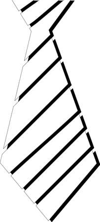 Pictogram of the tie. Black and white. Vector.