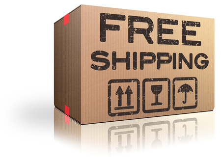 webshop: free shipping webshop order cardboard box internet web shop package delivery online shopping icon