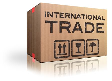 International trade and global transport Logistics freight transportation import and export market