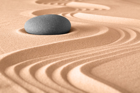 in meditation: japanese zen stone garden meditation background Stock Photo