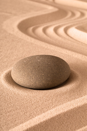 zen garden meditation background for relaxation and spirituality in yoga buddhism and spa wellness sand and rock pattern Stok Fotoğraf