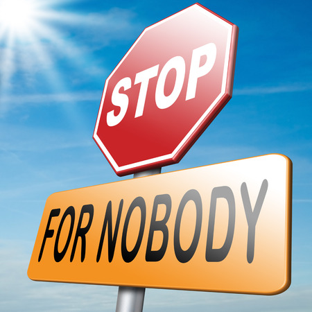 don: stop for nobody keep on going dont give up