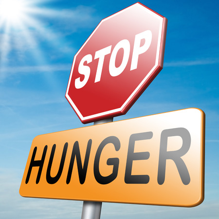 famine: stop hunger feed the world no suffering malnutrition starvation and famine caused by food scarcity undernourished bad harvest aid Stock Photo