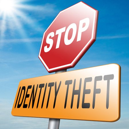 cyber crime: identity theft stealing ID online stop internet or cyber crime