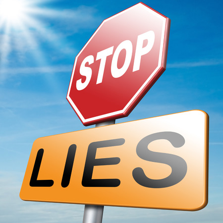 deceiving: no more lies stop lying tell the truth Stock Photo