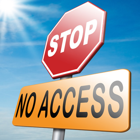 only members: no access restricted area stop here password required members only no entrance denied authorized personnel only Stock Photo