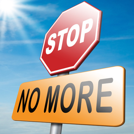 again: no more never again stop now Stock Photo