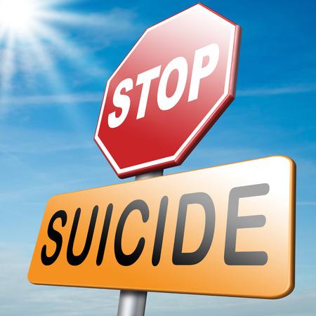 suicidal: suicide prevention campaign Stock Photo