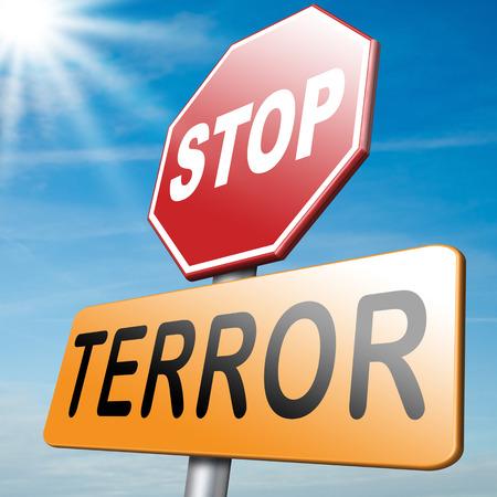 terror: stop the terror stop violence terrorism and war