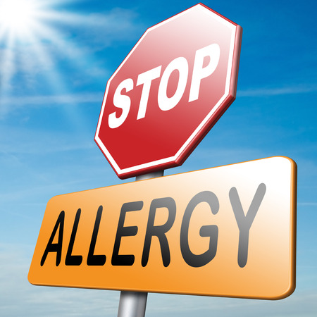 Allergy and allergic reactions hypersensitivity disorder of the immune system  asthma attack caused by food or pollen or hay fever Banque d'images