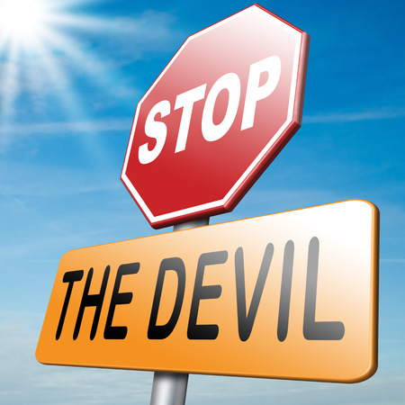 temptation: stop the devil no evil or sinning No more evil or go to hell. resist temptation from demon dont become a sinner, trust in God.
