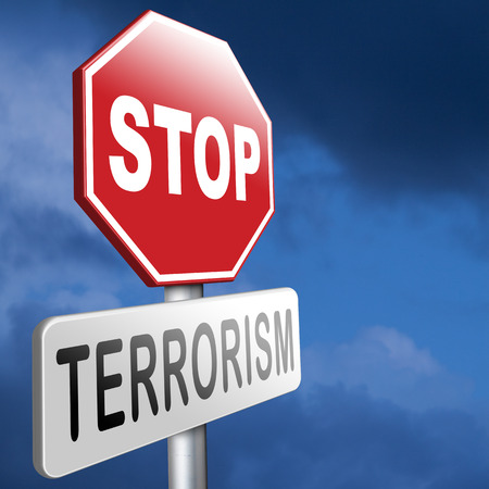 fundamentalism: stop terrorism war on terror no terrorist attacks Stock Photo