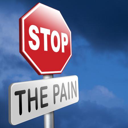 pain killer: pain killer stop headache migraine, no more suffering painkiller paracetamol aspirine merphine medicine treatment prevention and therapy Stock Photo
