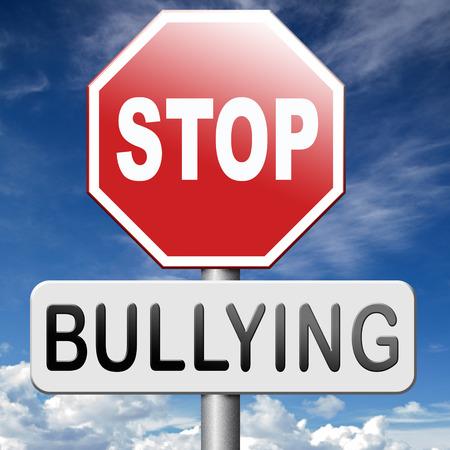 Arrêtez l'intimidation pas de prévention de l'intimidation contre le travail de l'école ou dans le harcèlement internet cyber Banque d'images - 39209349