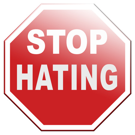 tolerancia: no odiar pare el odio comienzan a amar a la tolerancia y el perd�n Foto de archivo