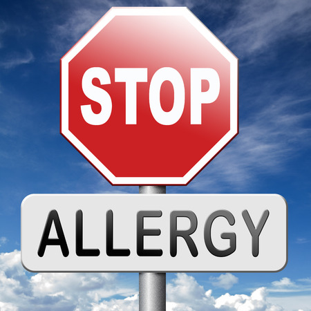 immune system: Allergy and allergic reactions hypersensitivity disorder of the immune system  asthma attack caused by food or pollen or hay fever Stock Photo