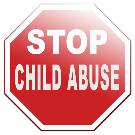 maltrato infantil: detener neglection abuso infantil y la violencia hacia los ni�os sin el acoso f�sico y psicol�gico que necesitan protecci�n Foto de archivo