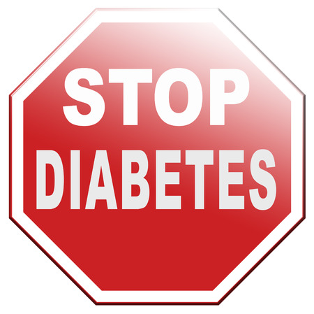 stop diabetes health prevention for obesity sugar free diet Stock Photo