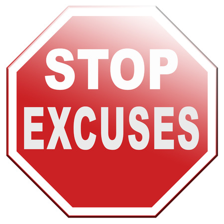 no excuses stop telling lies take your responsibility stop lying Banque d'images