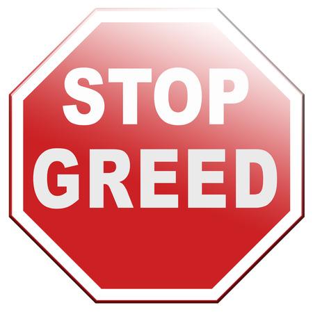 stop greed fair trade solidarity Banque d'images