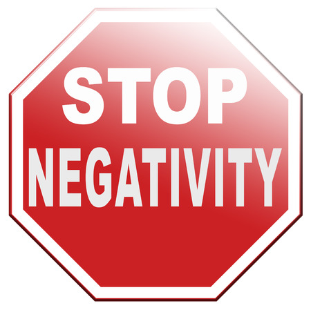 no pessimism or negativity think positive stop negative thinking having pessimistic thoughts be positive and optimistic thinking makes you happy Banque d'images