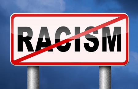 sex discrimination: no racism stop discrimination equal rights Stock Photo