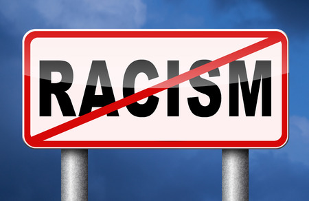 no racism stop discrimination equal rights Banque d'images