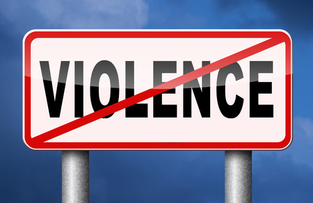 stop violence and aggression violent or aggressive actions no war or fights
