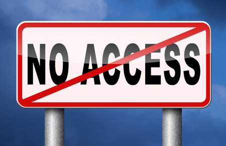 vip area: no access restricted area stop here password required members only no entrance denied authorized personnel only Stock Photo