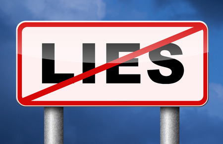 concealment: no more lies stop lying tell the truth Stock Photo
