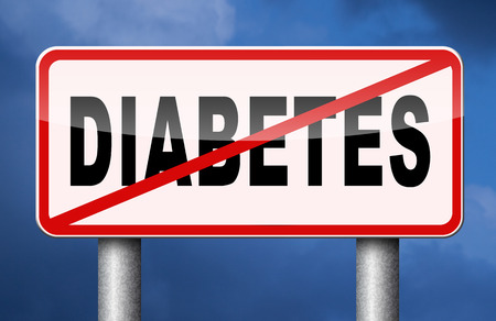 screen type: stop diabetes health prevention for obesity sugar free diet Stock Photo
