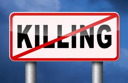 Arrêter de tuer pas de fusils interdire les armes fin à la guerre et de la violence Banque d'images - 41887556