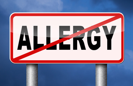 hypersensitivity: Allergy and allergic reactions hypersensitivity disorder of the immune system  asthma attack caused by food or pollen or hay fever Stock Photo