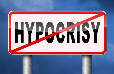 Arrêter l'hypocrisie semblant hypocrite Banque d'images - 41887572