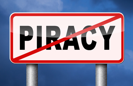 piracy: piracy stop illegal download and copying, copyright and intellectual property protection protect copy of trademark brand