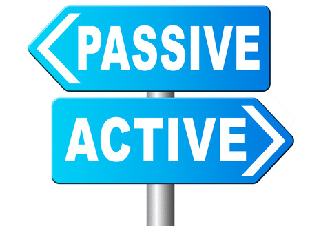take action: active passive take action or wait taking initiative and participate
