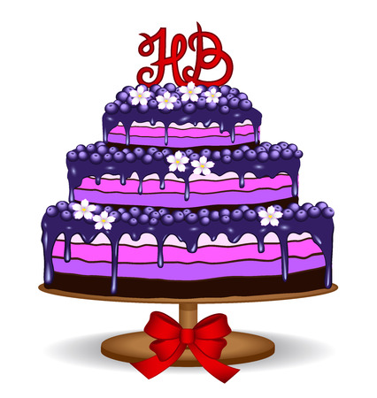 lila: Birthday Cake Illustration