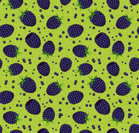 kitchen scraps: Blackberry Seamless Pattern Illustration