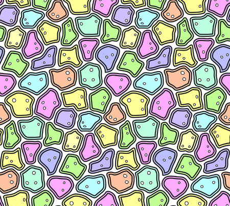 craquelure: Abstract Seamless Pattern in Soft Pastel Colors, Craquelure or Egg Shell Style